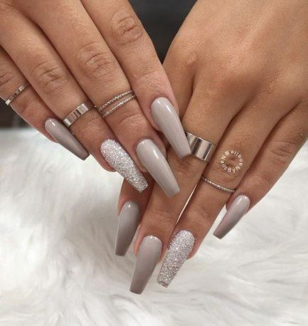 40 ideas for nails long simple glitter  coffin nails
