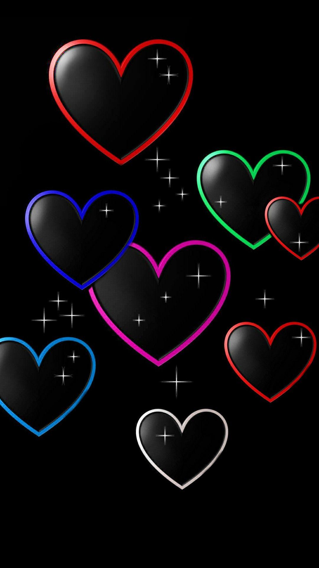 Multi Color Hearts Heart Wallpaper Love Wallpaper Valentines Wallpaper