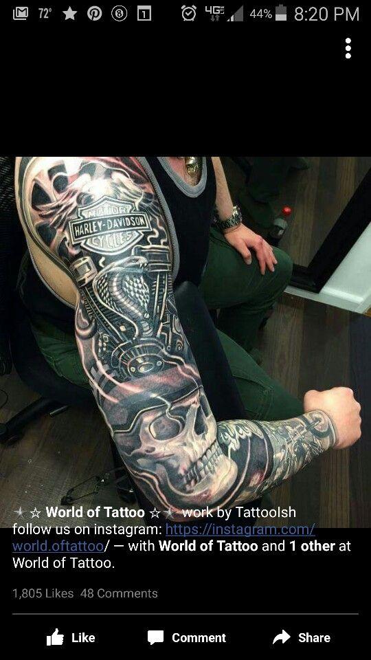 feba4314a Tattoo Hd Tattoos, Biker Tattoos, Badass Tattoos, Motorcycle Tattoos, Skull  Tattoos,