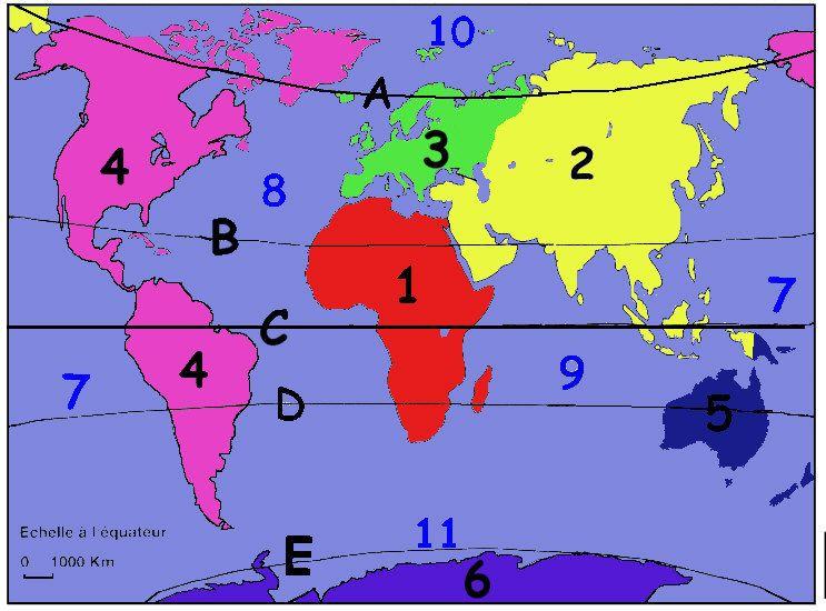 carte des continents et océans continent ocean carte | Continents et océans, Carte des continents