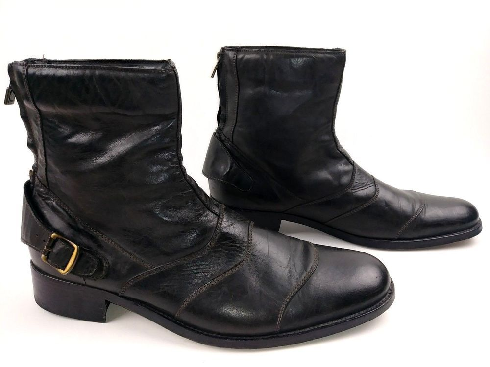 classic styles high fashion best choice Belstaff Mens Townmaster Motorcycle Boots Size 45 12 Black ...