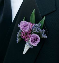 Wedding flowers purple boutonniere 59+ ideas #purpleweddingflowers
