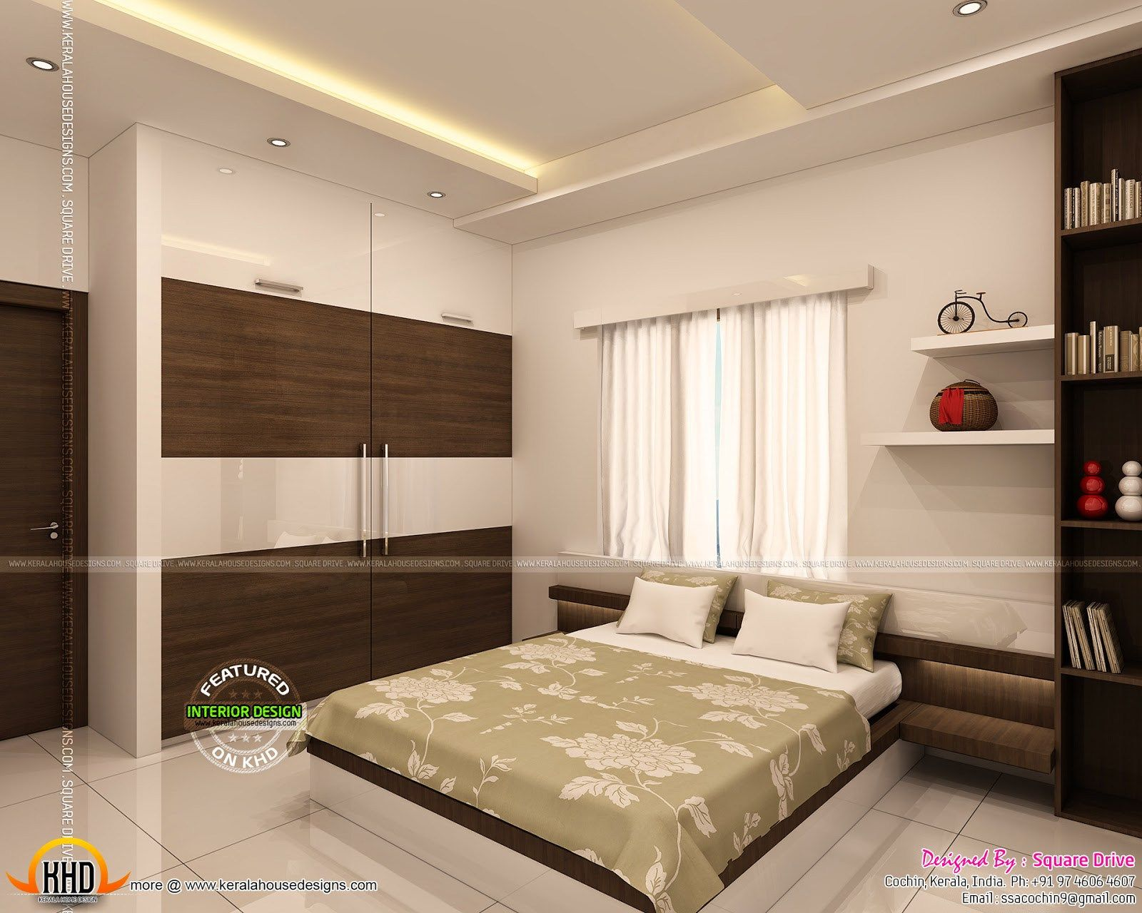 trendy bedroom interior designs kerala home design floor plans