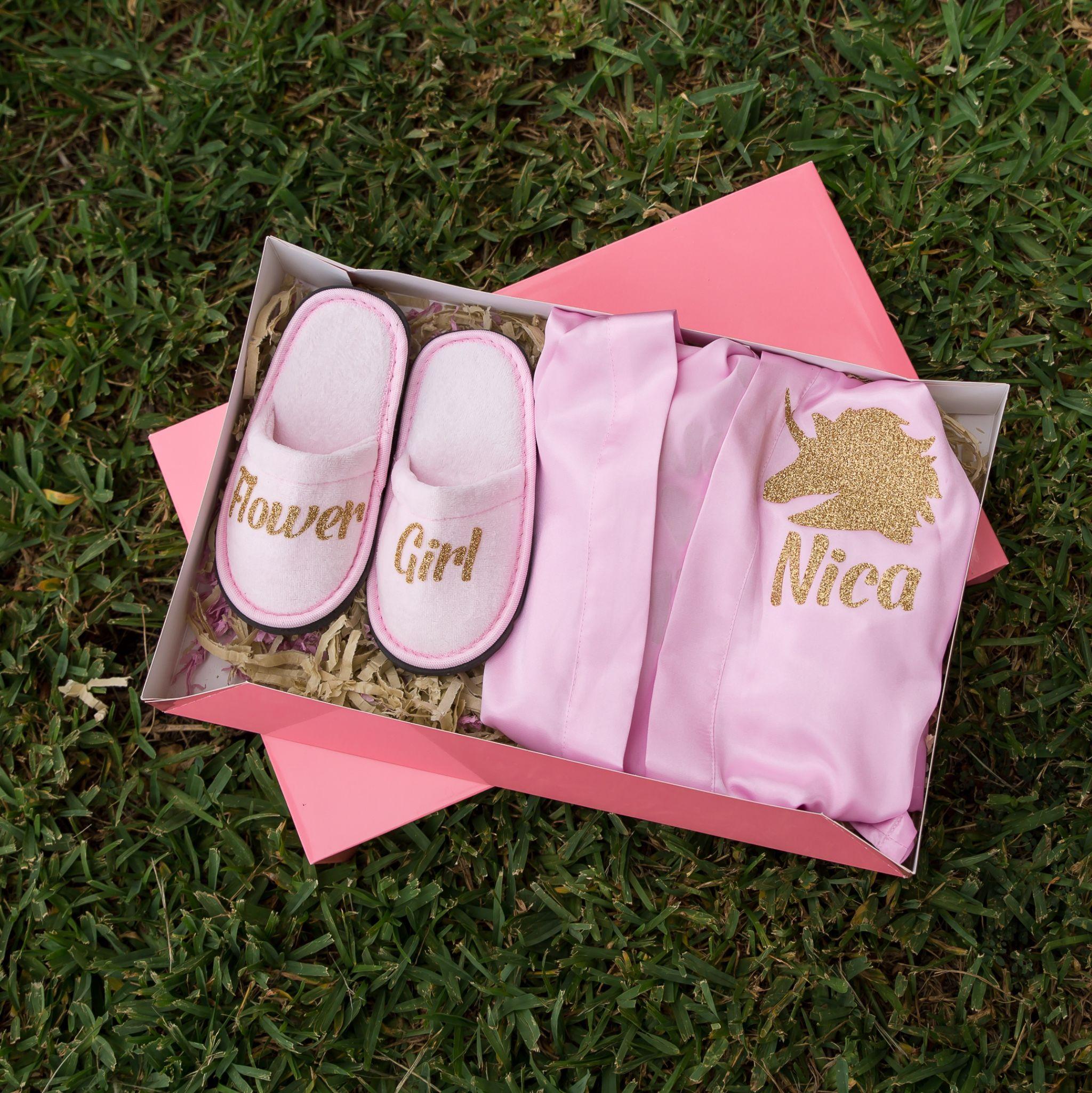 Flower girl gift box cute bridesmaids gifts bridesmaid