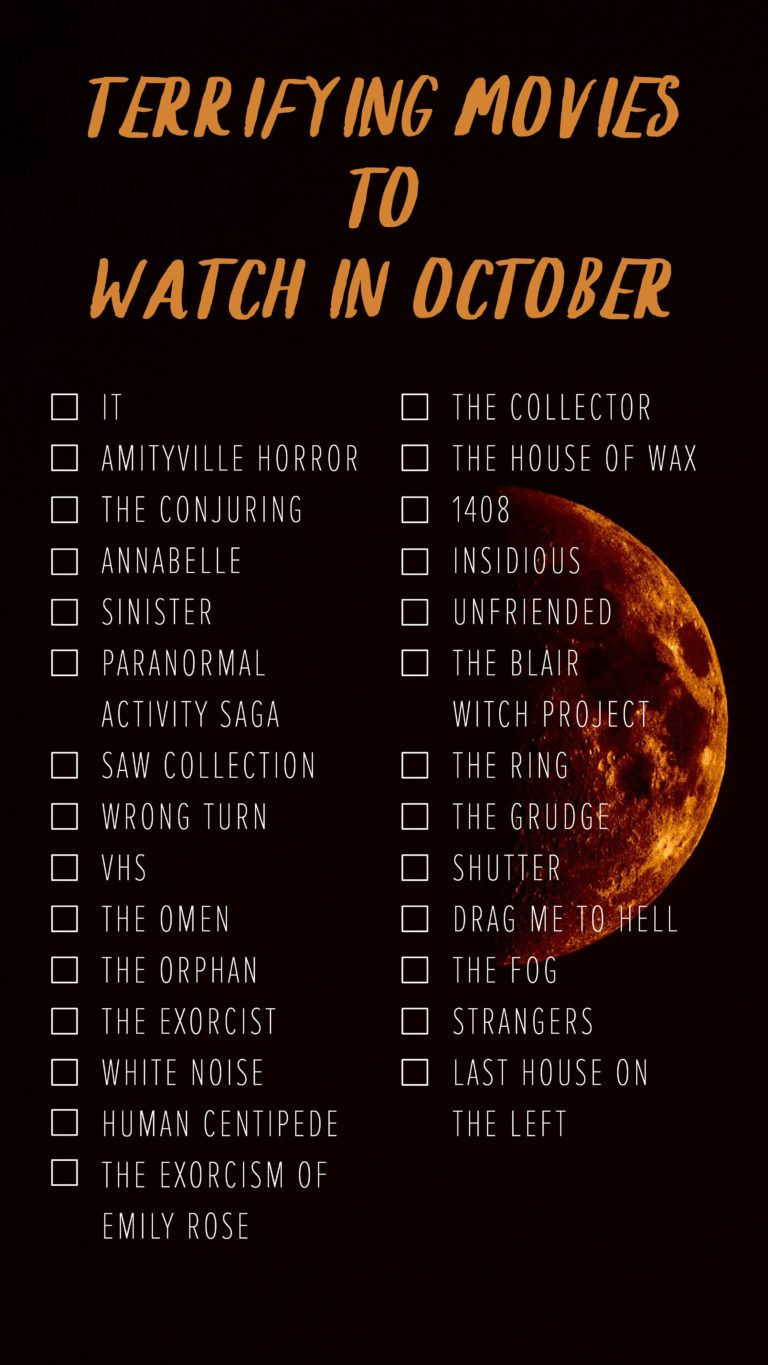 Ultimate October Scary Movie List from kids to adults