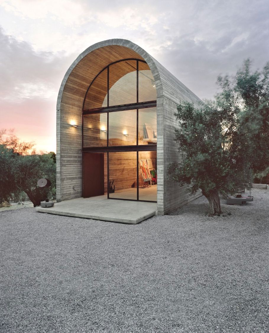 A Simple Art Studio The Warehouse Made From Barrel Vault Greece