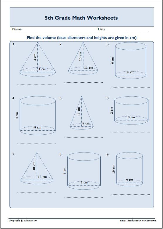 Find Volume 5th Grade Math Word Problems Worksheets Multiplication Word Problems