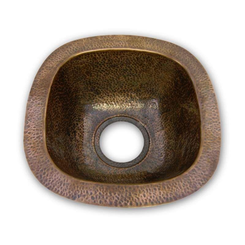 Houzer Hw Schbf Copper Bar Sink Prep Sink Copper Bar