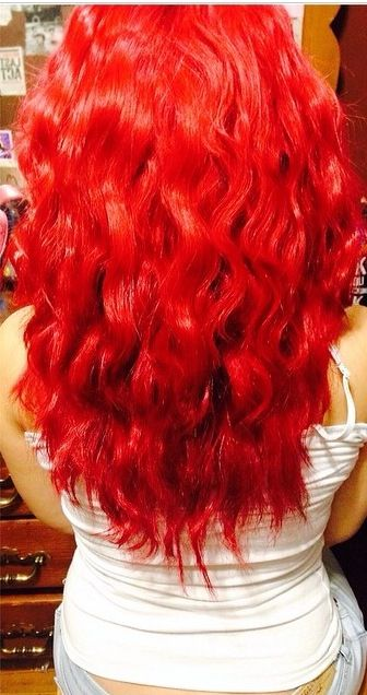 My Hair When It Was Bright Red I Used Ion Color Brilliance