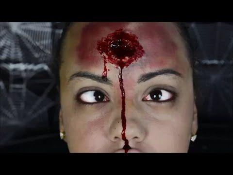 Fast Bullet Wound Sfx Makeup Tutorial Makeup Tutorial Sfx Makeup Sfx