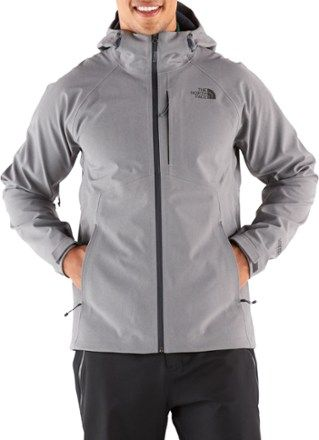 7e634a9b66d9 The North Face Men s Apex Flex GTX Rain Jacket Medium Grey Heather Urban  Navy XXL