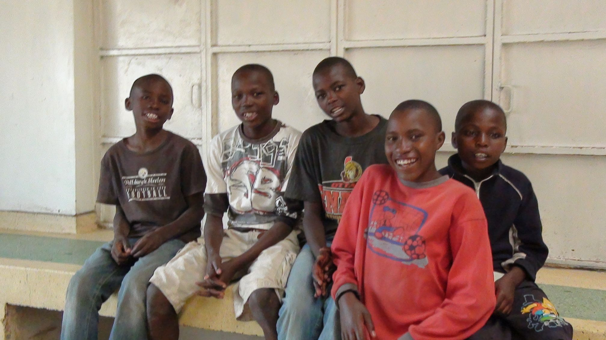 some boys at JWHS, a boys' home in Kenya, project of Expanding Opportunities. Support by shopping at Ainamoja.com and kangausa.com