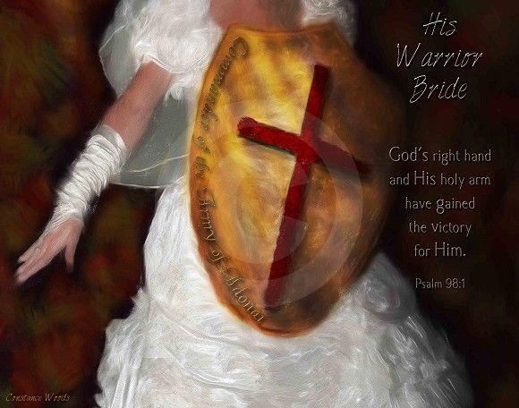 Image result for prophetic art my warrior Bride of Christ