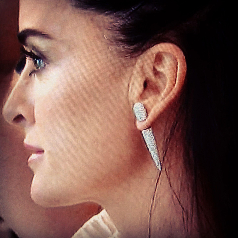 Diamond Faux Plug Earrings Seen On Rhobh