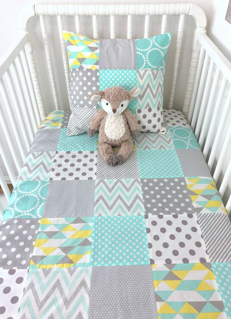 Baby Blanket Nursery Crib Bedding Patchwork Baby Quilt Baby Etsy