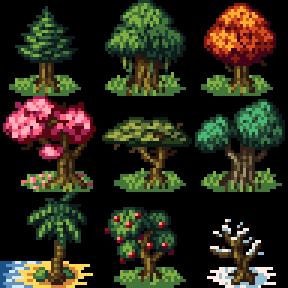 Oc 32x32 Trees Practice Pixelart In 2020 Cool Pixel Art