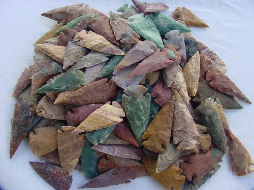 10 spearheads arrowheads hand knapped reproduction 2