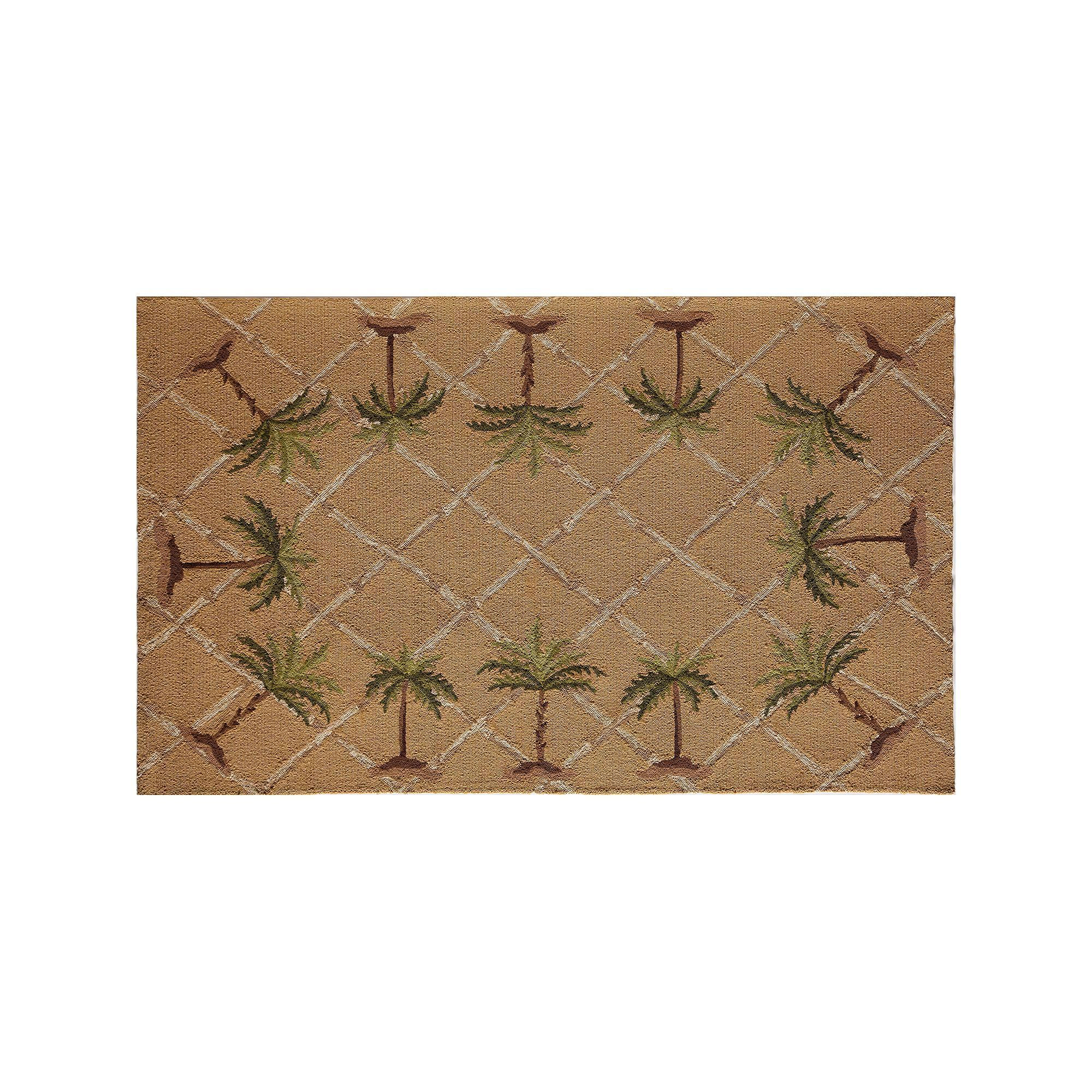 Ruckstuhl Outdoor Teppich Rugs America Lenai Sunny Palm Indoor Outdoor Rug