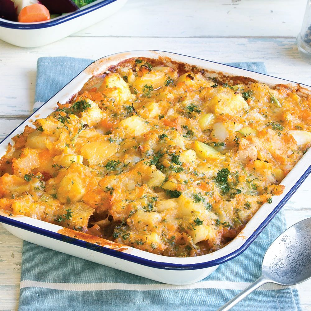 Chicken pie with root vege mash healthy food guide