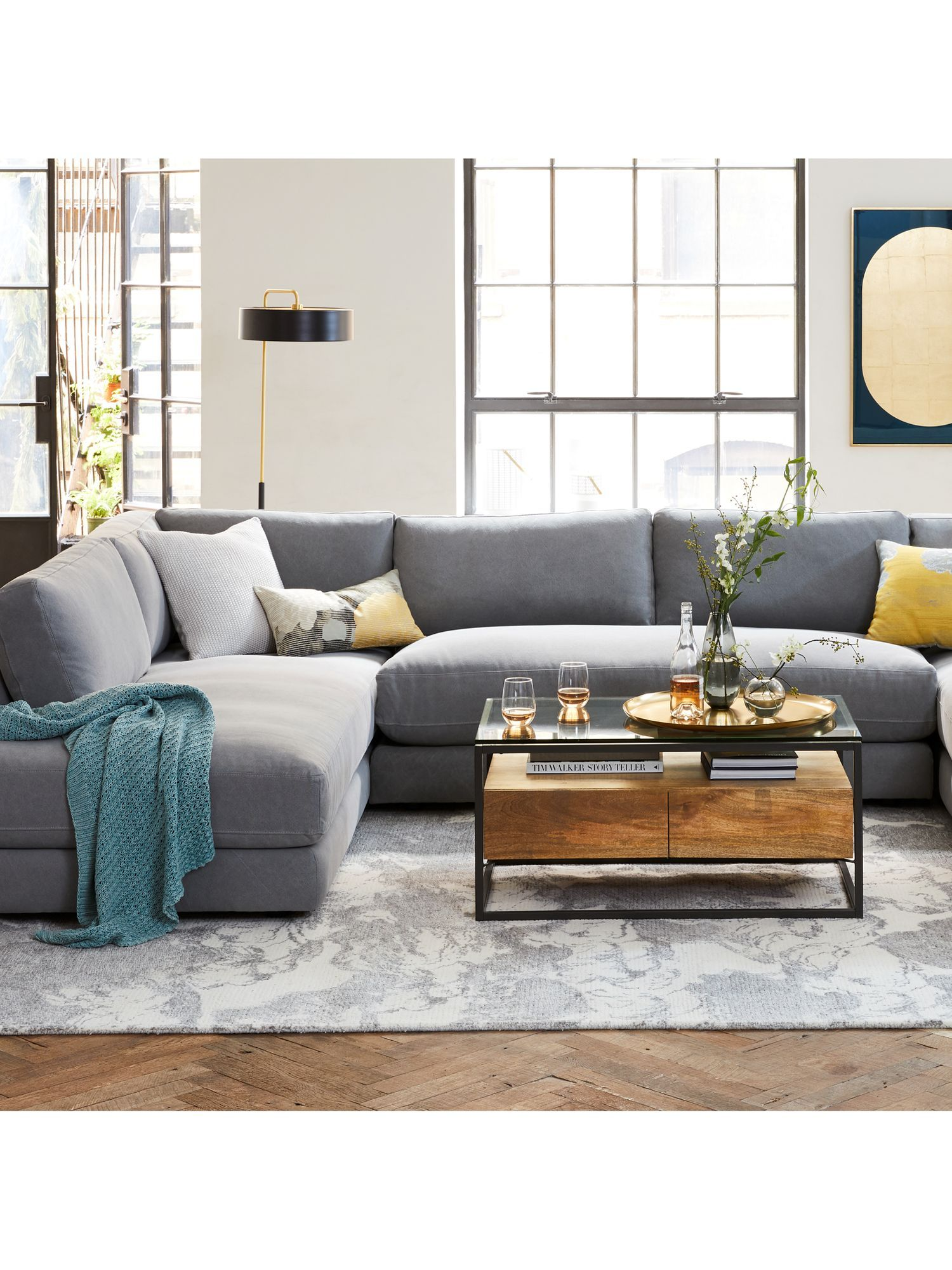 West Elm Industrial Storage Box Frame Coffee Table In 2020 Home Decor Near Me Living Room Inspiration Living Room Designs