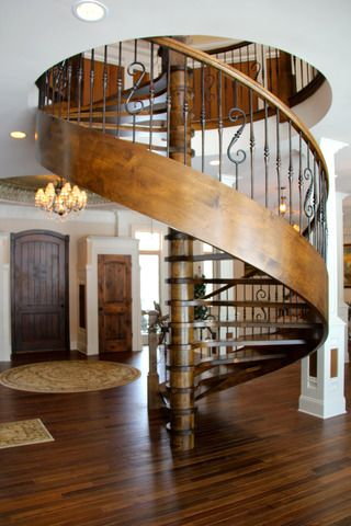 Spiral Staircase In House Built Like A Castle Warrenville Il
