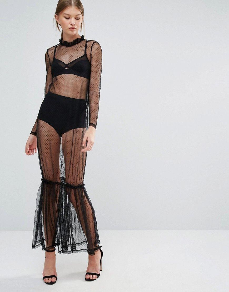 0ac7a1bcc3 Vero Moda Sheer Maxi Dress | Capsule Wardrobe Ideas | Sheer maxi ...