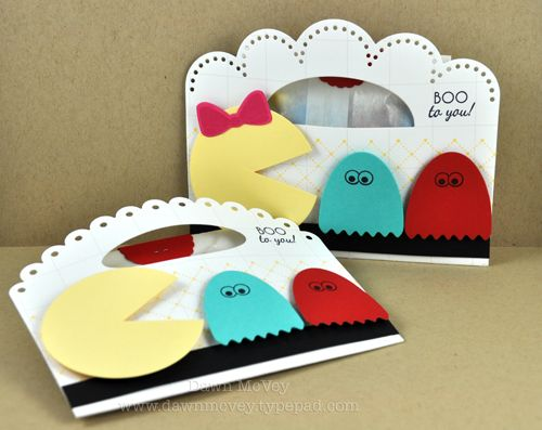 Mr. & Ms. Pac-Man Treat Pouches by Dawn McVey for Papertrey Ink (August 2012)