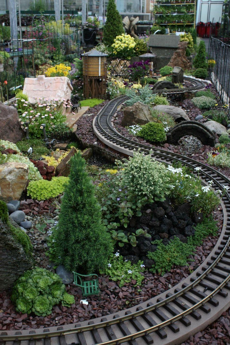 Amazing Diy Mini Fairy Garden For Miniature Landscaping 68 Miniature Garden Miniature Fairy Gardens Garden Trains Diy backyard train plans