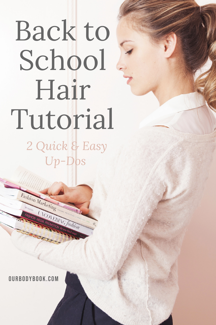 quick and easy hairstyles for the back to school rush pinterest