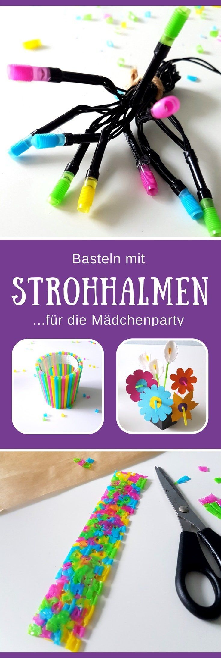 basteln mit strohhalmen 4 kreative ideen f r kinder freebie strohhalm bastelideen f r. Black Bedroom Furniture Sets. Home Design Ideas