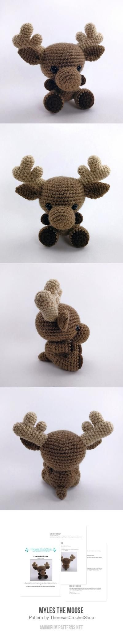 Myles The Moose Amigurumi Pattern | Yarn Party | Pinterest | Molde ...