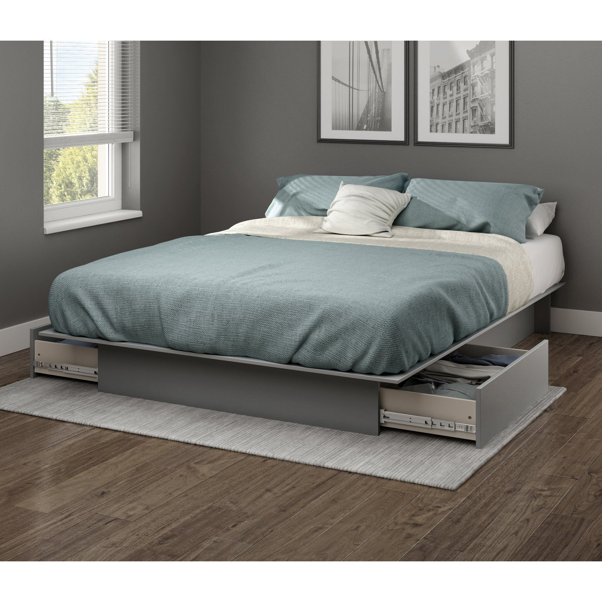 Step One Full/Queen Platform Bed with Drawers Platform
