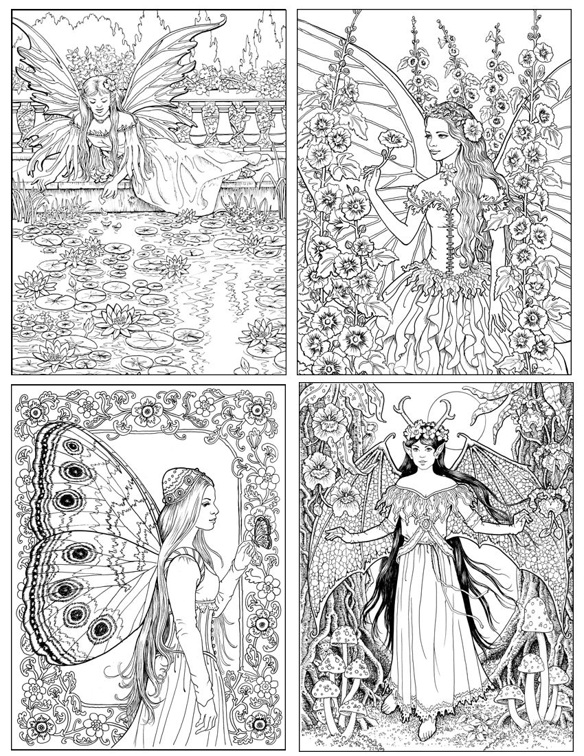 More Images From THE WORLD Of Fairies Coloring Book For Adults By Ruth Sanderson