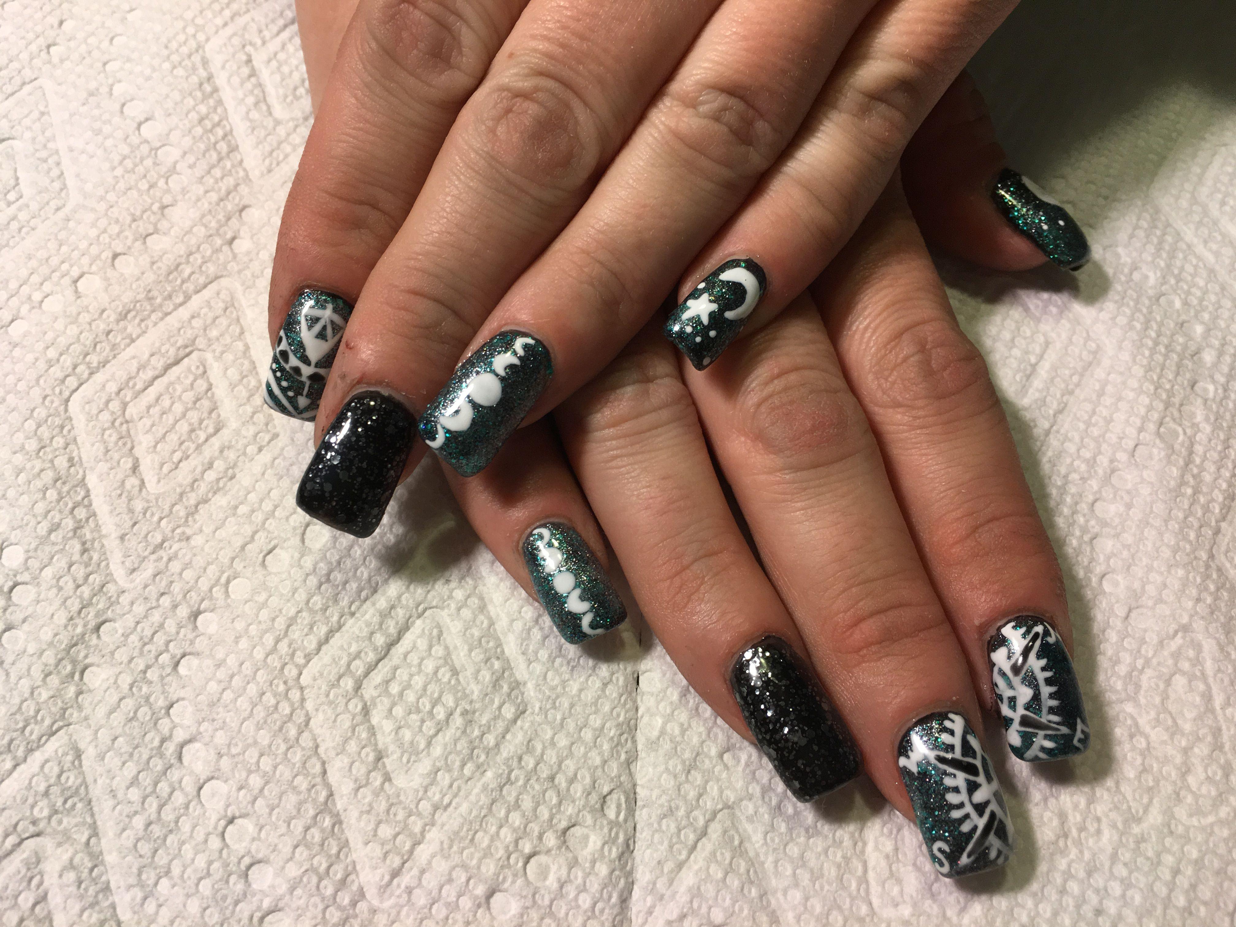 Violet Gel polish and acrylic nails   Nails, Acrylic nails