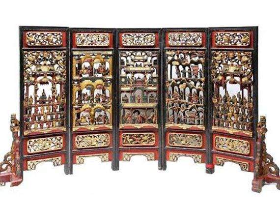 Chinese Screen Room Divider Design For Oriental Home Interior Bhouse