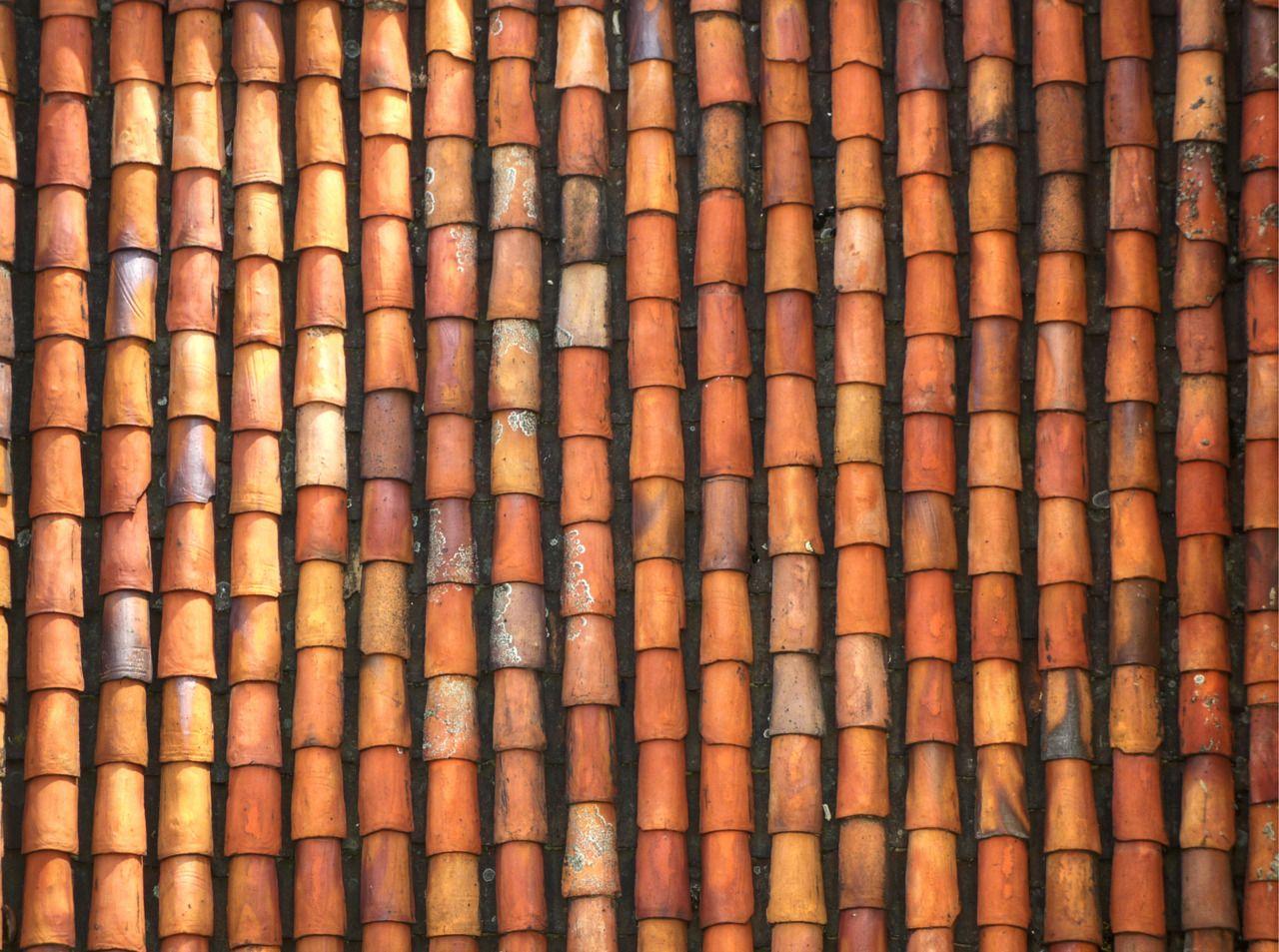 Terracotta Roof Tiles Tekstury Domiki Risunki