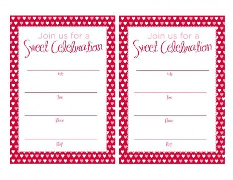 FREE Valentineu0027s Day Printables from Magnolia Creative Co - free template for birthday invitation