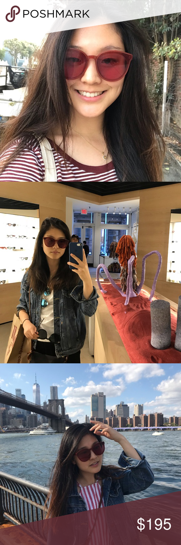 39f8f0da7f18 Black Peter RD1 in RED Mulled wine colored sunglasses in the cutest wide  acetate frame! Almost as brand new. Original case and wiper included. Gentle  ...