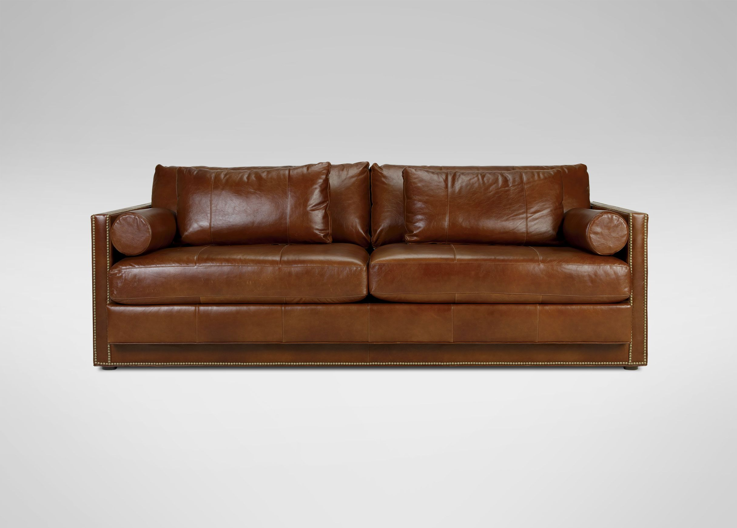Abington Leather Sofa Ethan Allen 93 W X 36 H 41 D