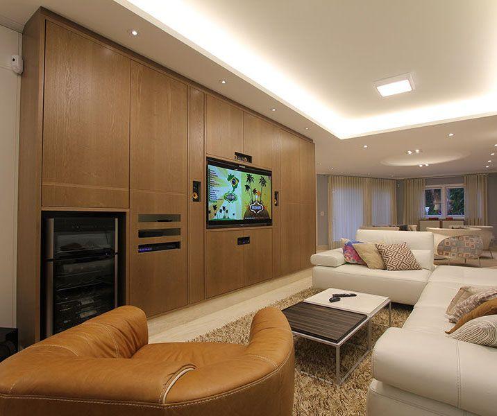 sala de estar living sala de TV sala moderna sala integrada sala contemporânea marcenaria marcenaria sob medida decoração móveis modernos arquitetura arquitetura de interiores interiores