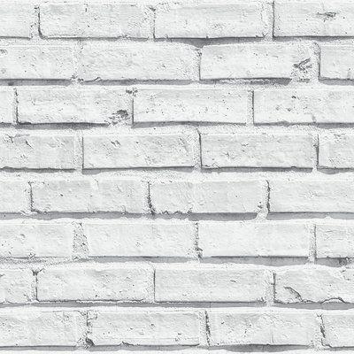 191c86573aeb7 Papel pintado imitación ladrillo blanco estilo industrial - 40811. Shop  Wayfair for all the best Wallpaper. Enjoy Free Shipping on most stuff