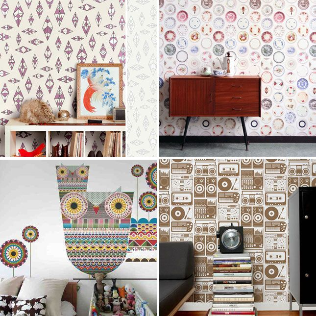 Spoonflower Inspiration Custom Wallpaper Fabric Decals Etc
