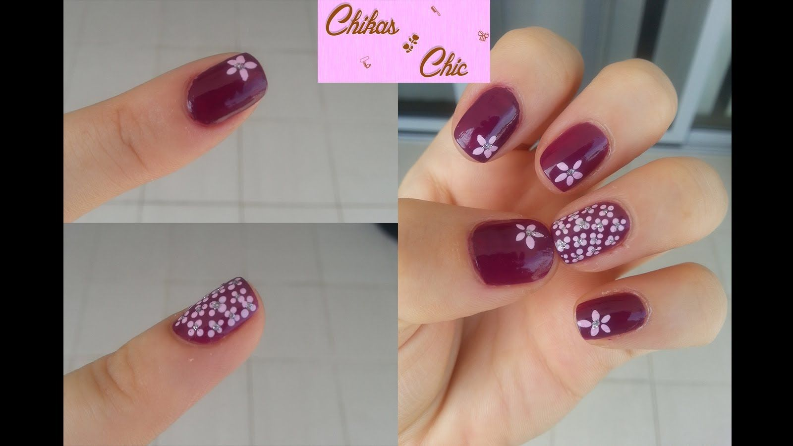 Decoracion de Uñas: Diseño de Flores - Nail Art: Flowers Design ...