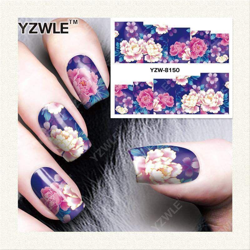 Buy Yzwle 1 Sheet Diy Decals Nails Art Water Transfer Printing ...