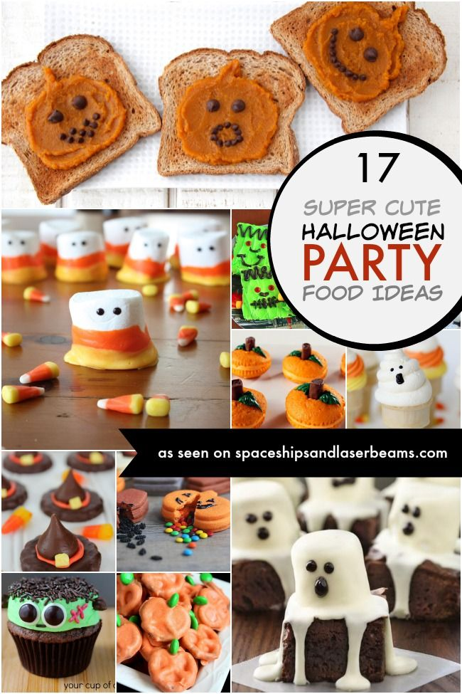17 Super Cute Halloween Party Food Ideas - Spaceships and Laser