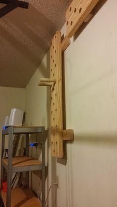 diy climbing peg board  fitness  at home gym garage gym