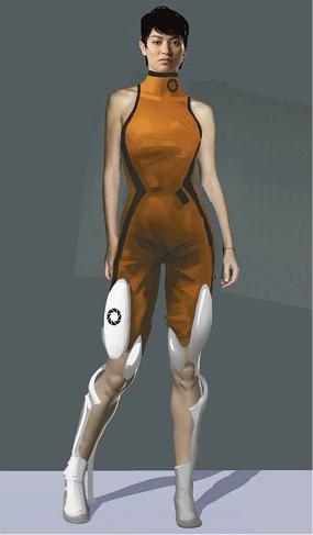 Portal 2 Chell Concept Art 4 Portal 1 And 2 Portal Art