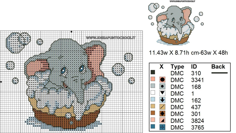 Schema Dumbo Baby Punto Croce Punto Croce Pinterest