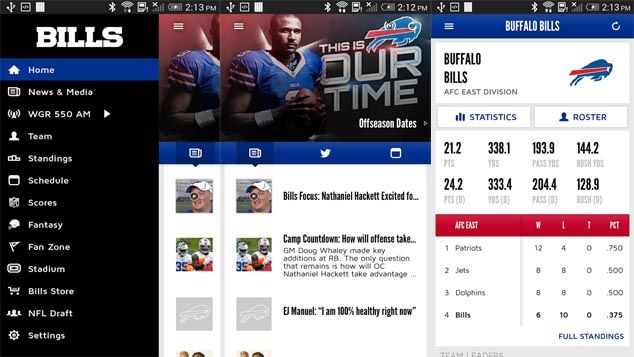 Live Streaming Android Apps Buffalo Bills Football Game The Nfl