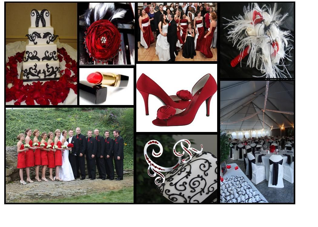 Red White And Black Wedding Colors